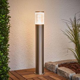 Luminaire pour socle Belen en inox avec LED