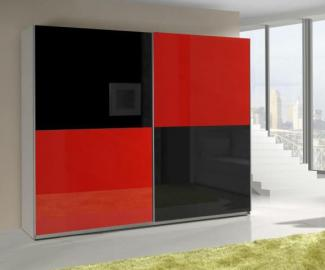 Presta RED 2 - red and black wardrobe