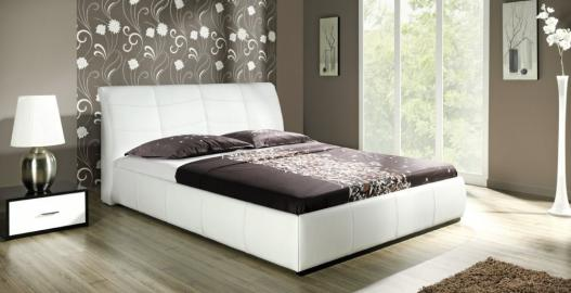APOLLO S - faux leather modern bed