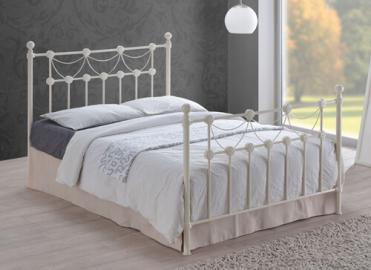 "Time Living Ivory Omero Bed Frame - King Size (5' x 6'6"")"