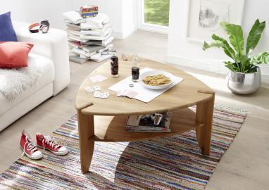 Theo - triangular oak coffee table