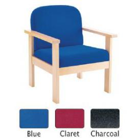 Arista Reception Wooden Armchair Claret KF72151