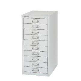 Bisley 10 Drawer Cabinet Silver BY40500