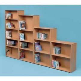 Classmates Single Sided Adjustable Bookcase 700 x 320 x 1245mm, Free