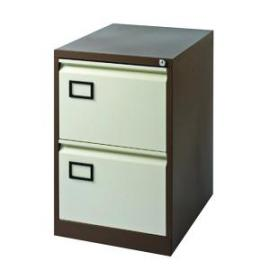 Jemini 2 Drawer Filing Cabinet CoffeeCream KF03006