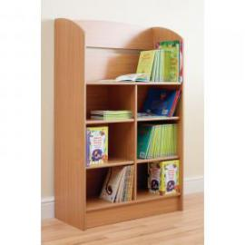 Display Bookcase 750 x 325 x 1200mm, Free Standing Beech