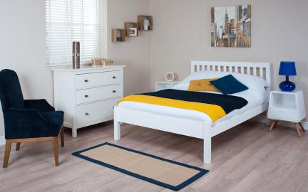 Silentnight Hayes White Wooden Bed Frame, Single