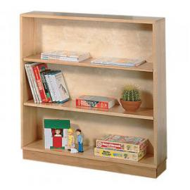 Galt Open-Front Bookcase 860 x 250 x 950mm, Free Standing Natural