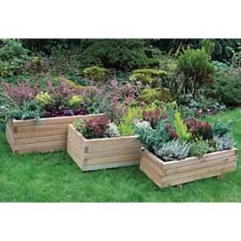 Forest Garden Durham Rectangular Planter - Set of 3