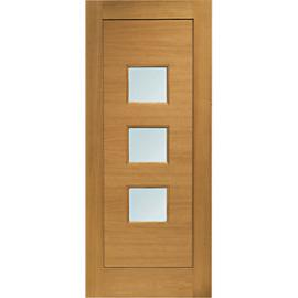 XL Turin External Oak Left Handed Fully Finished Door Set 2067 x 926mm