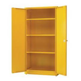 Hazardous Substance Storage Cabinet 72x48x18 inch CW 3 Shelf Yellow