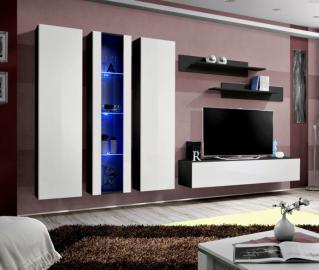 Idea 4 - white and black tv wall unit