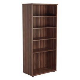 Jemini Walnut 1800mm 4 Shelf Bookcase KF840147