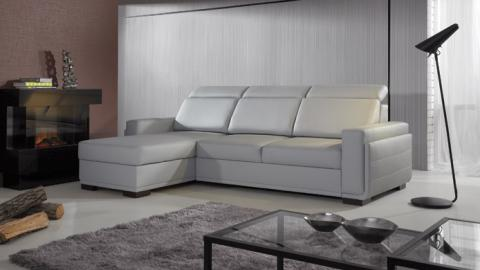 SALVO III - Faux leather corner sofa for sale