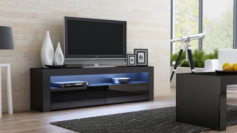 Milano 157 Classic  Black gloss TV stand