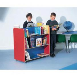 Mobile Bookcase 470 x 980 x 940mm, Moveable Castors