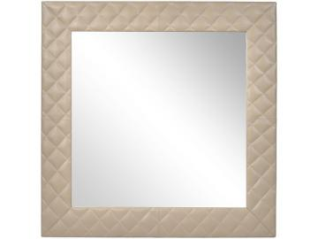 Moseley Beige Leather Square Wall Mirror