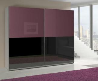 Presta violet 5 - black and violet wardrobe furniture