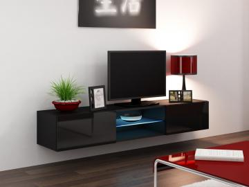 Seattle 43 - black tv stand with storage