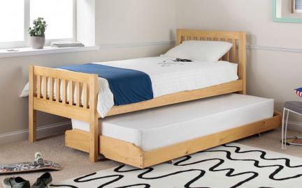 Lena Pine Guest Bed, Single, White
