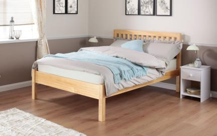 Silentnight Hayes Pine Wooden Bed Frame, King Size