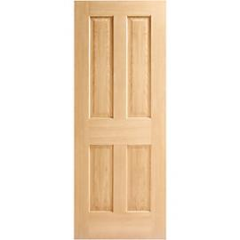 Wickes Cobham Oak 4 Panel Internal Fire Door - 1981mm x 762mm