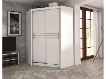 Harlow  corner white wardrobe