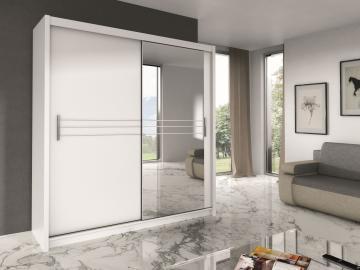 Harlow 203 - White or black modern wardrobe
