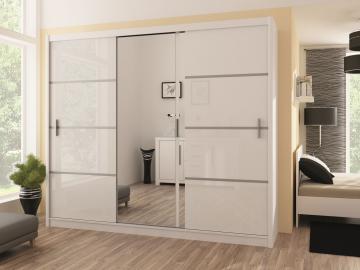 Vezon 250 - white or oak wardrobe