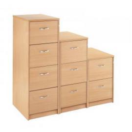 Wood 3drw Filing Cabinet Beech