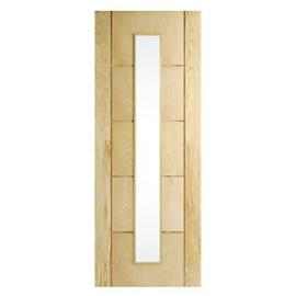 Wickes Thame Glazed Oak 5 Panel Internal Door - 1981mm x 686mm