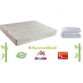 Greenbed Matelas de 90x190cm Luxe et Confort Basic avec 23cm d'épaisseur + couette 140x200cm Basic microfibre 400g/m²