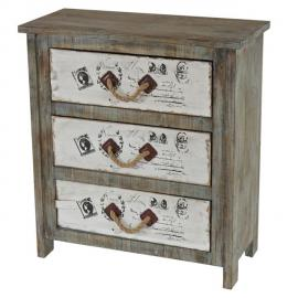 Mendler Commode Almada armoire table d'appoint, vintage, shabby chic, 80x72x33cm