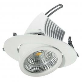 Spot encastrable LED pivotant 20 cm, 48 W