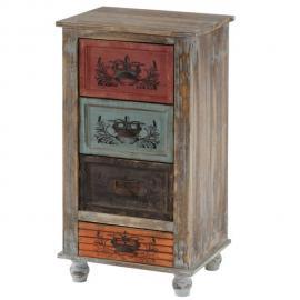 Mendler Commode Vigo armoire table d'appoint, vintage, shabby chic, 79x43x33cm