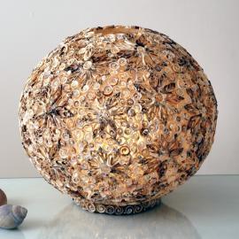 Lampe à poser BALLE DE COQUILLAGES, 40 cm