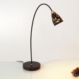 Magnifique lampe à poser Alice, abat-jour noir or