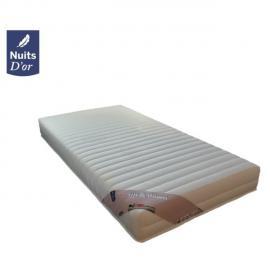 Nuits D'OR Up&Down Matelas 90x200 Ferme Densité 35 Kg/m3 - 18 Cm + 2 Oreillers à Mémoire de Forme