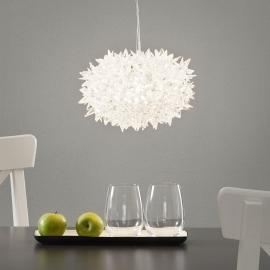 Suspension LED transparente Bloom, 28 cm