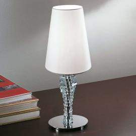 Petite lampe à poser Crystal blanc