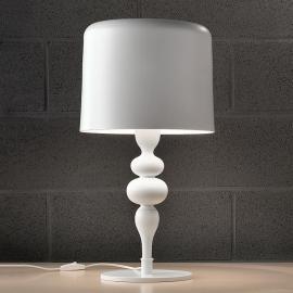 Lampe à poser Eva TL3 et 1G 75 cm blanche