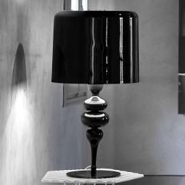 Lampe à poser Eva TL3 et 1G 75 cm noire