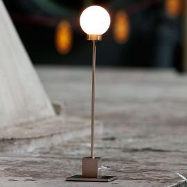 Lampe à poser minimaliste Snowball, métallique
