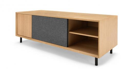 Luther, grand meuble TV, chêne