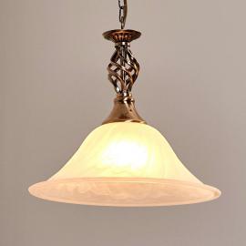 Suspension laiton vieilli CAMEROON à 1 lampe