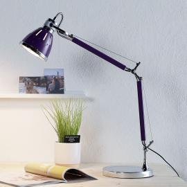 Lampe de bureau Jerona, violet