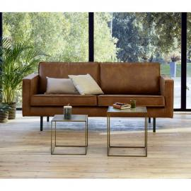 WOOOD L 190 x l 86 x H 85 cm - 70% cuir recyclé 30% polyester