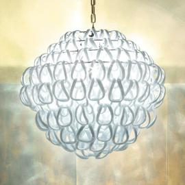 Suspension en cristal GIOGALI 50 cm blanche
