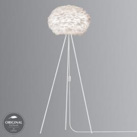 Lampadaire à trépied Eos medium, blanc