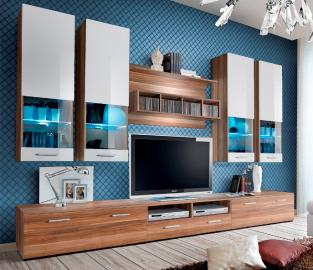 Torino 4 - prune / blanche meuble de télévision